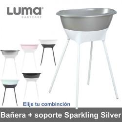 Bañera con soporte Luma Sparkling Silver elige tu combinación Baño