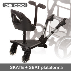 Be Cool Skate Seat pack plataforma universal Accesorios