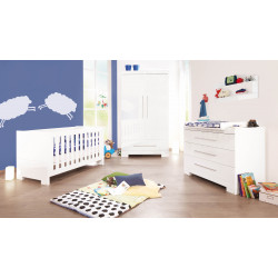 Habitación infantil CLOUD B  Blanco/Brillo  MDF Mobiliario y decoración