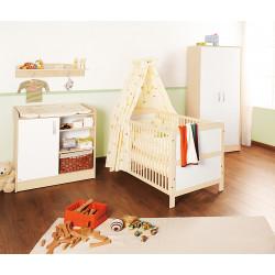 Habitación infantil FLORIAN melamina y pino Mobiliario y decoración