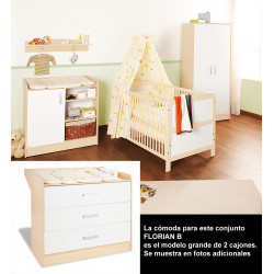 Habitación infantil FLORIAN B melamina y pino Mobiliario y decoración