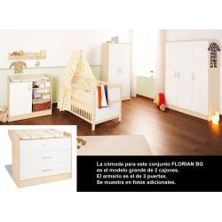 Habitación infantil FLORIAN BG melamina y pino Mobiliario y decoración