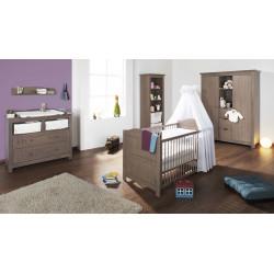 Habitación infantil JELKA BG abeto nogal/gris Mobiliario y decoración