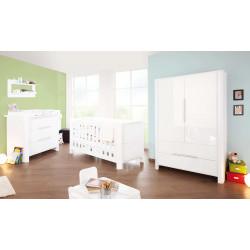 Habitación infantil MOON B Blanco/Brillo MDF Mobiliario y decoración