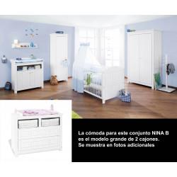 Habitación infantil NINA B abeto blanco/decapé Mobiliario y decoración