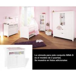 Habitación infantil NINA G abeto blanco/decapé Mobiliario y decoración