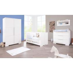 Habitación infantil POLAR B banco/satinado MDF Mobiliario y decoración