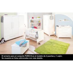 Habitación infantil PURO B abeto blanco/decapé Mobiliario y decoración