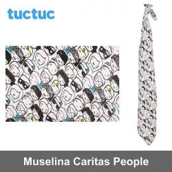 TucTuc manta muselina Caritas People Canastilla