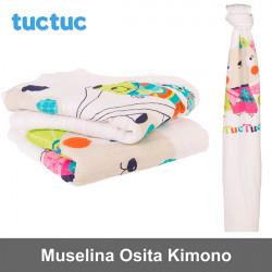 TucTuc manta muselina Osita Kimono Canastilla