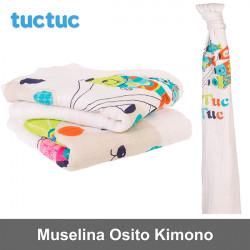 TucTuc manta muselina Osito Kimono Canastilla
