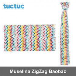 TucTuc manta muselina ZigZag Baobab Canastilla