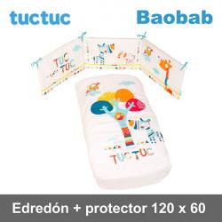TucTuc Edredón + Protector Cuna 120 x 60  Baobab Edredones y protectores