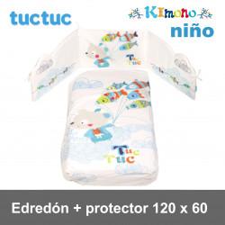 TucTuc Edredón + Protector Cuna 120 x 60  Kimono Niño Edredones y protectores
