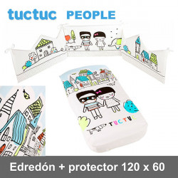 TucTuc Edredón + Protector Cuna 120 x 60  People Edredones y protectores