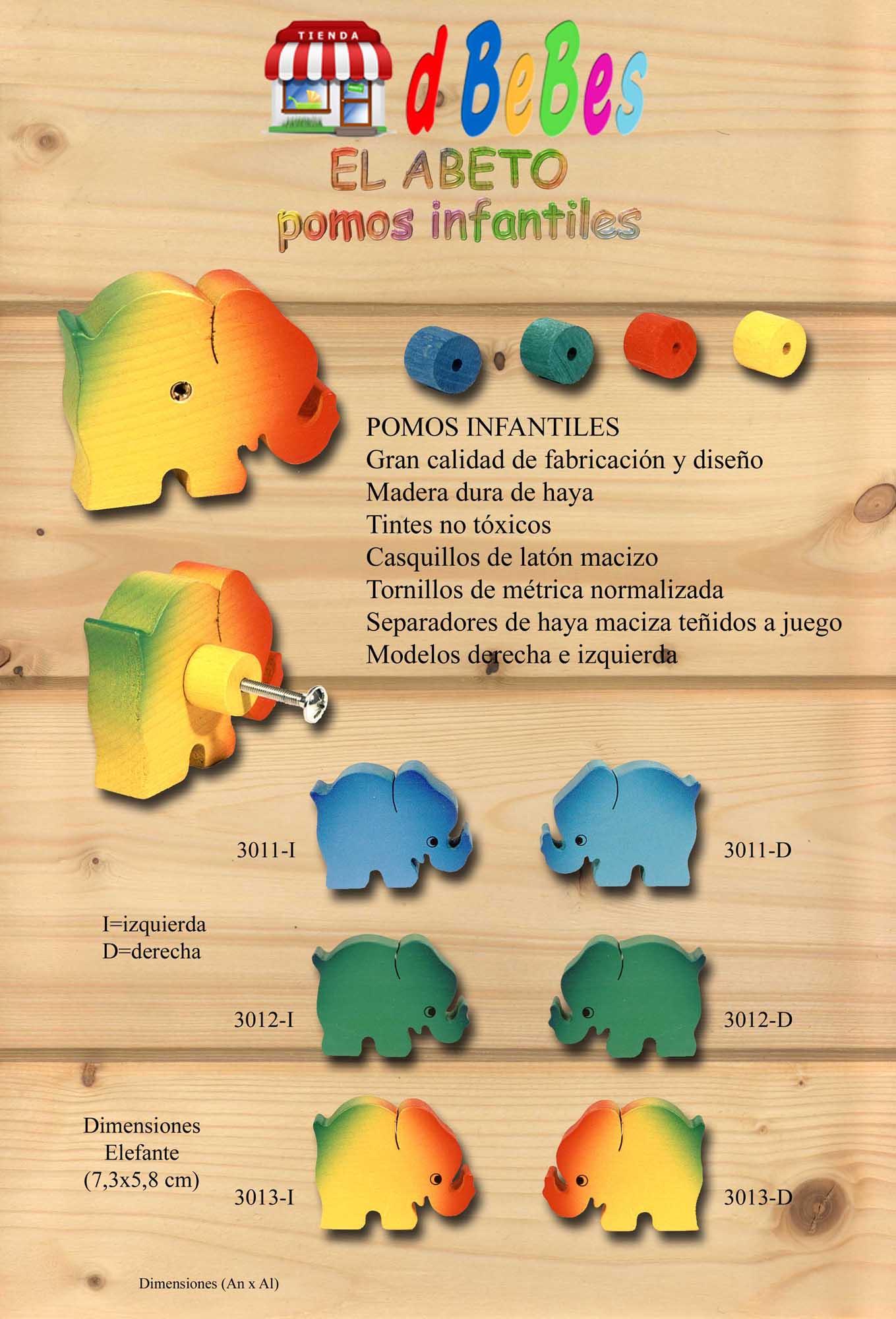 Tienda de bebes pomos elefante - Pomos armarios infantiles ...